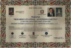 Premio Livatino-Saetta 2010